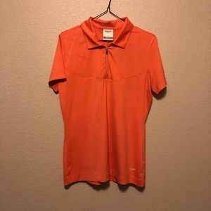 Nike golf dri fit zipper polo!